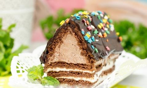 """торт """"Шалаш"""" из печенья и творога"""