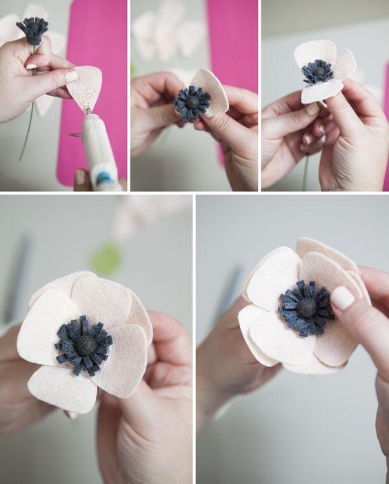 цветы из фетра своими руками анемоны мастер-класс