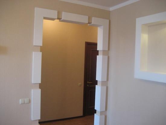 Оформить дверной проём без двери