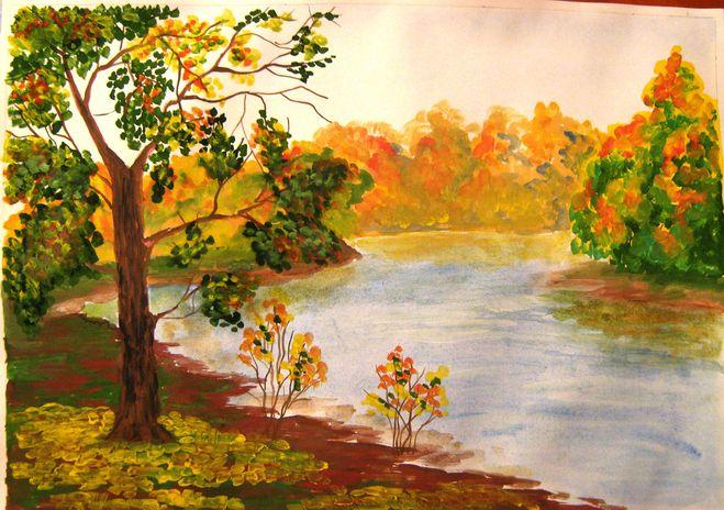 Картинки осени рисовать