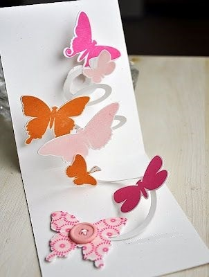 объемная открытка с бабочкой
