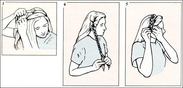 Как сделать самой себе косичку на бок