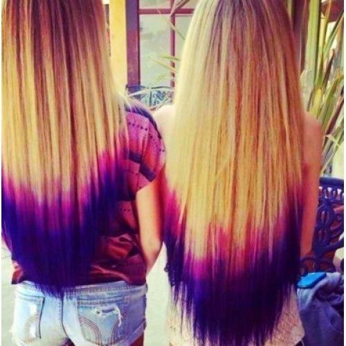 Осветление прядей на темных или русых волосах в домашних 100
