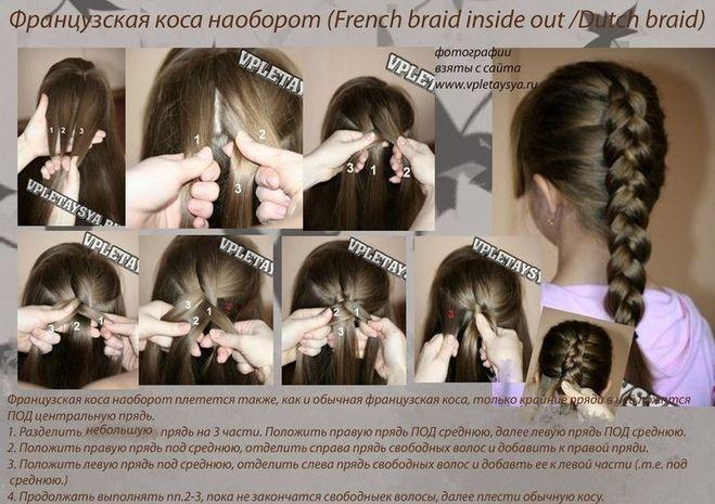 Как плести французскую косу видео скачать