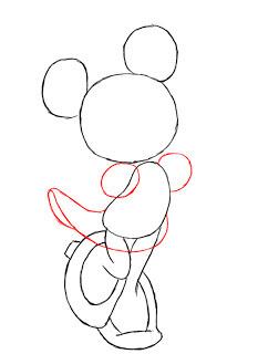Минни Маус рисунок карандашом поэтапно мастер-класс