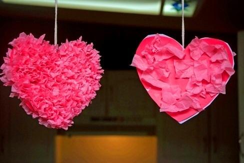 поделка на 14 февраля, аппликация ко Дню Влюбленных