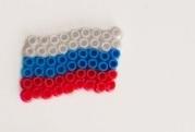 российский флаг из термомозаики