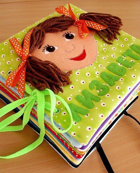 развивающая книго из фетра