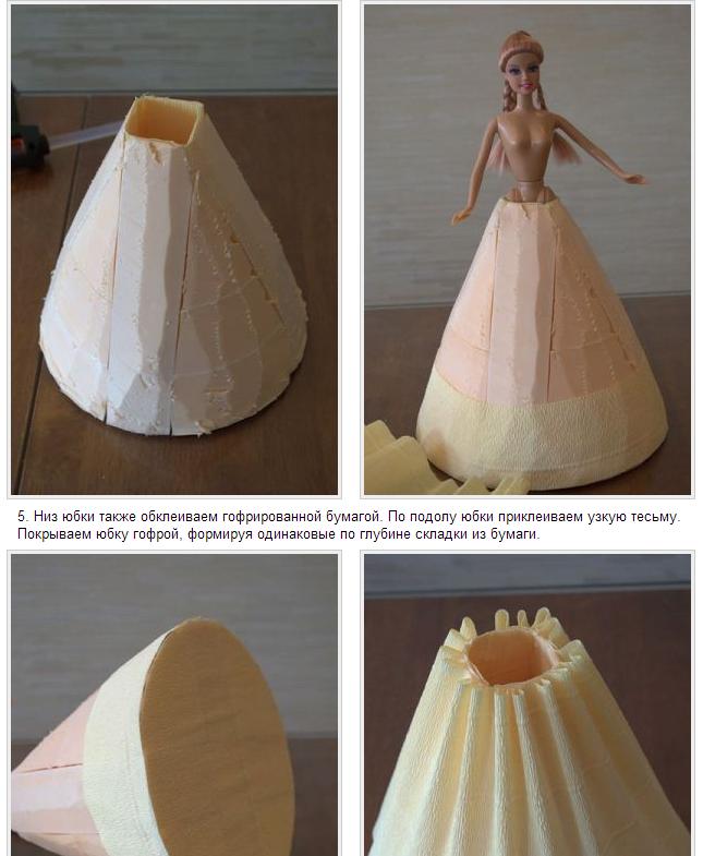 Как сделать платье из конфет для барби из конфет
