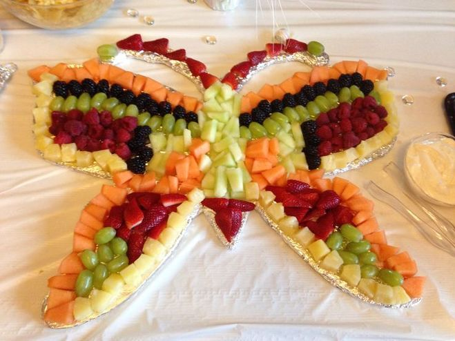 бабочка из овощей своими руками