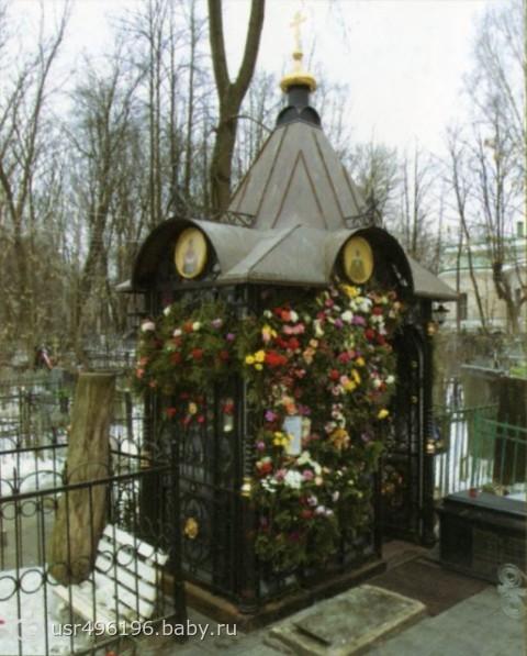текст при наведении - могила Св. Матроны