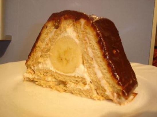 Торт с печеньем творогом и бананами без выпечки с фото из печенья