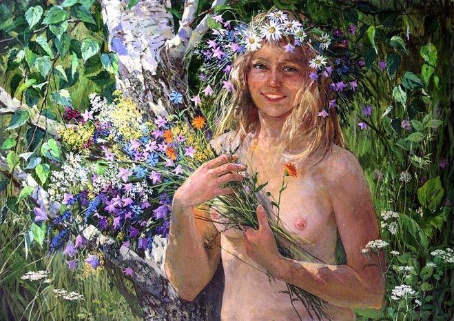 голая жена в огороде смущает соседа
