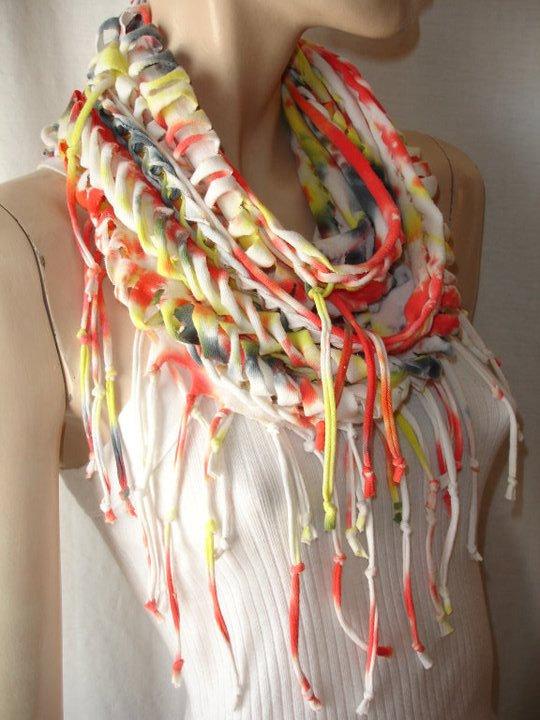 Дизайнерский шарф своими руками 81