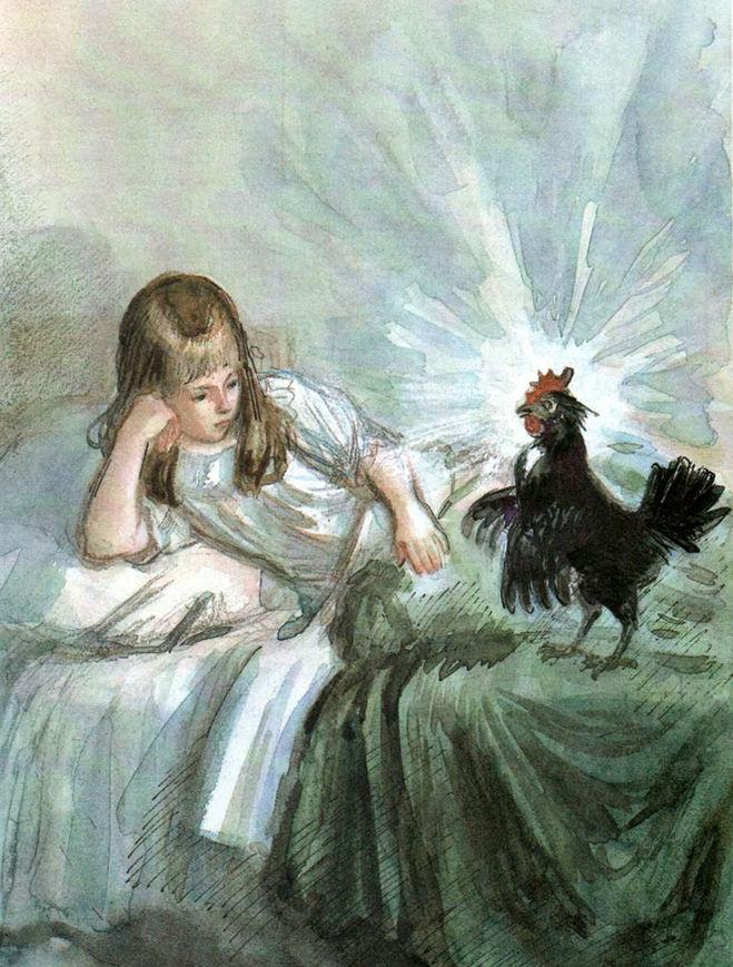 Картинки к сказке чёрная курица и подземные жители