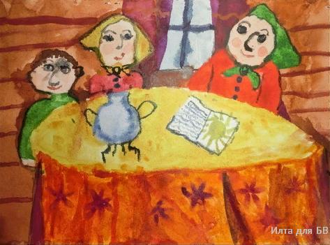 """Как нарисовать рисунок к стих-ю С. Есенина """"Бабушкины сказки""""?"""