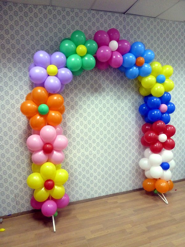 Как сделать арку из шаров воздушных своими руками