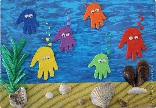 Изделия и поделки на тему вода и Морские обитатели из фетра