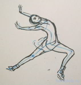 движении рисунок в человек показать