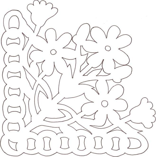 Вытынанка цветы шаблоны для вырезания