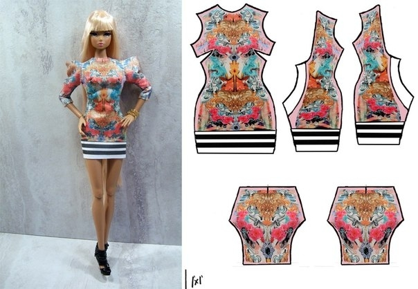 Как сделать платье для куклы барби своими руками без машинки легко 27