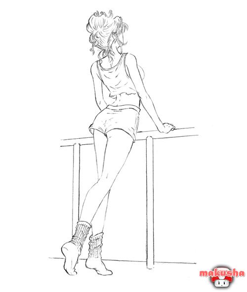 Женская спина рисунок