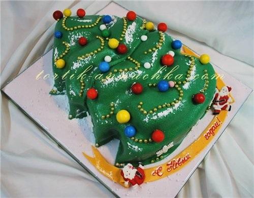 торт в виде елки рецепт