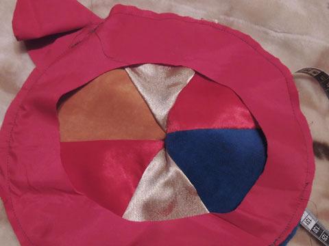 обшиваем круг для берета