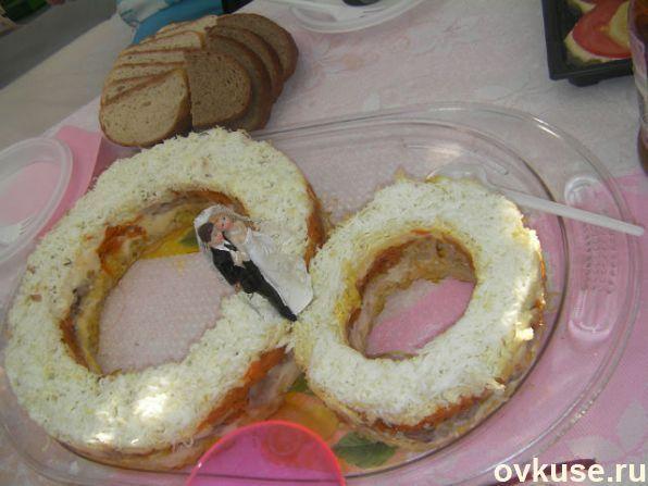 Салат обручальное кольцо рецепт с пошагово