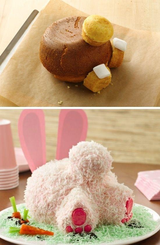 торт в виде зайца 3D