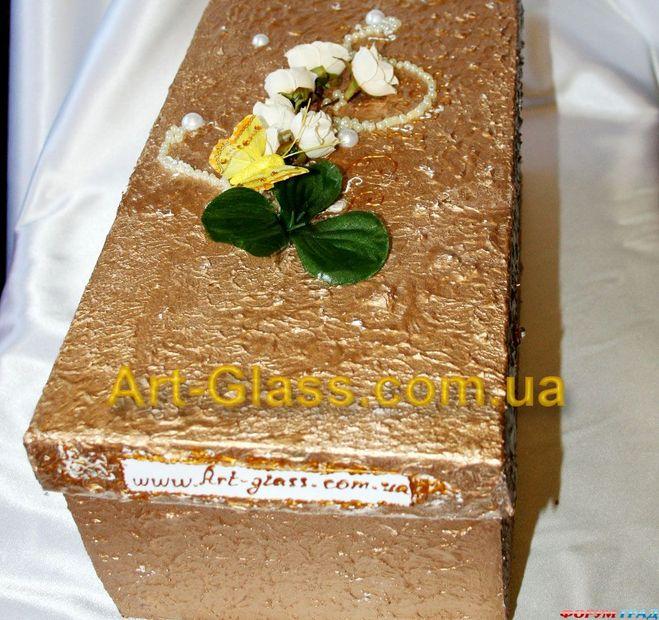 Декор коробки лентами своими руками