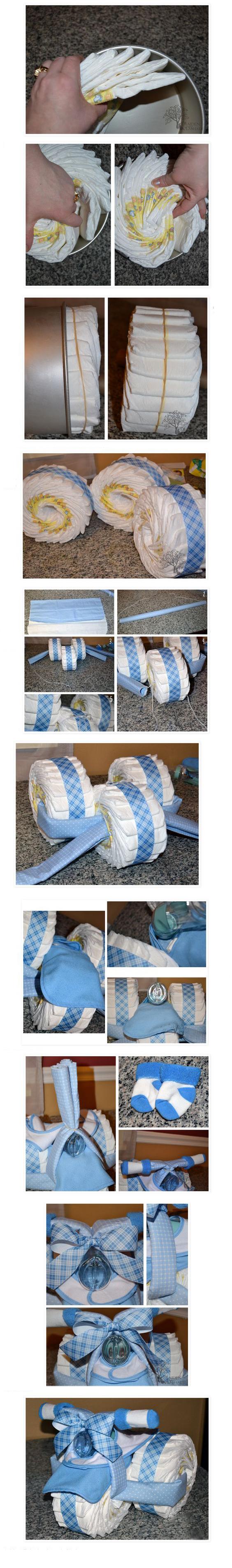 Как сделать подарок для новорожденного из памперсов фото
