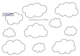 как сшить облако из фетра, шаблоны облака