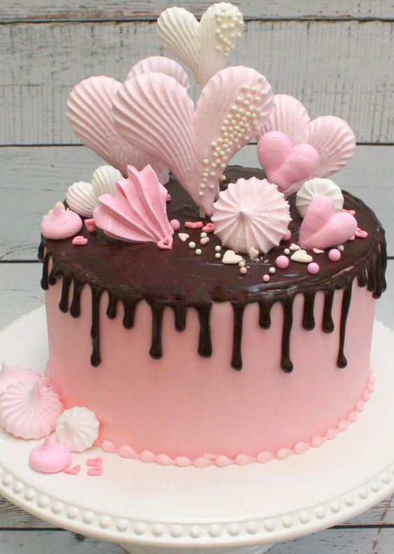 Как сделать сердечки из шоколада на торт 30