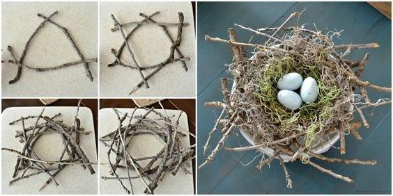 гнездо своими руками на Пасху