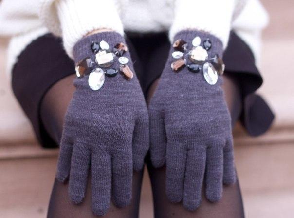 Как своими руками украсить перчатки