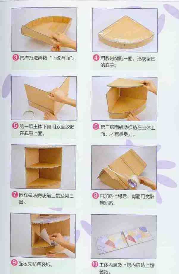 Полочка на стену из картона своими руками