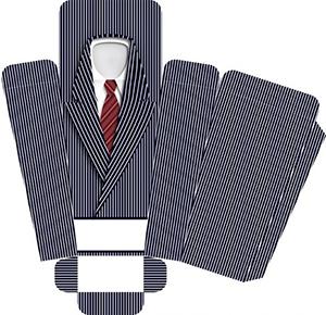 коробка шаблон в виде рубашки в подарок мужчине