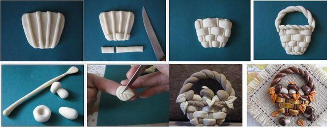 Пошаговые поделки из соленого теста своими руками