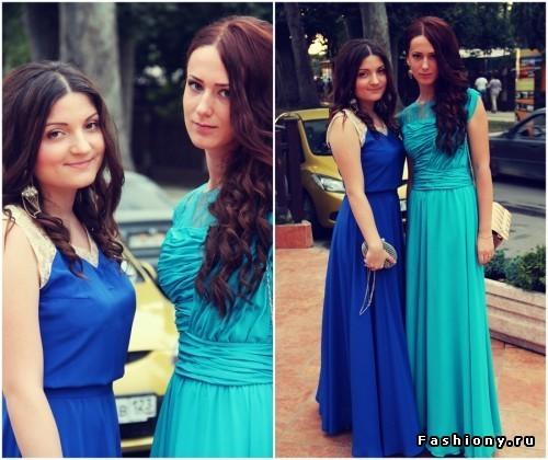 Прически на выпускной к синему платью