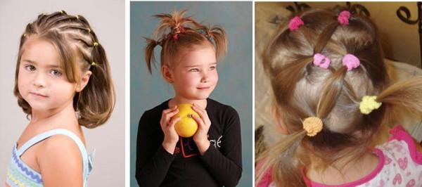 Прически на короткие волосы детские своими руками фото