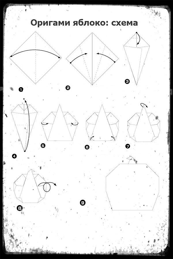 Поделки из бумаги оригами из модулей со схемами