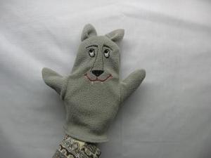 кукла-перчатка волк для театра
