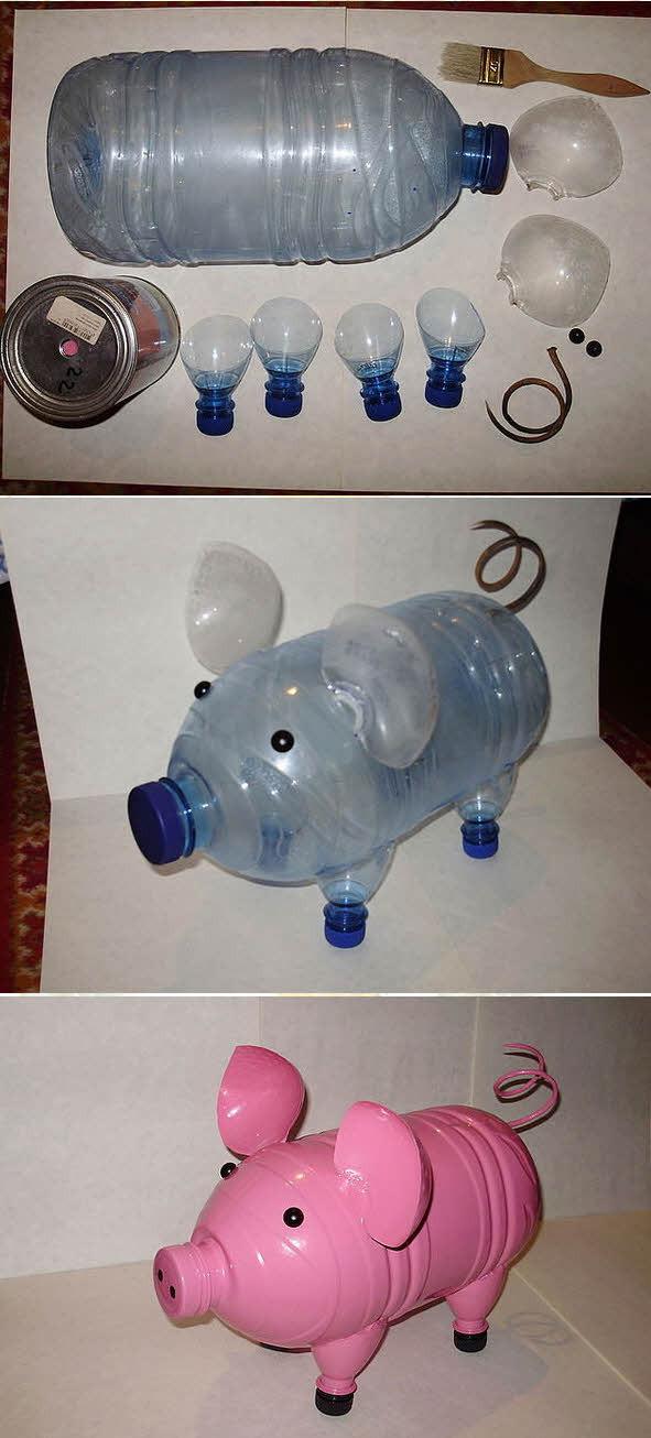 Поделка из пластиковой бутылки своими руками животные
