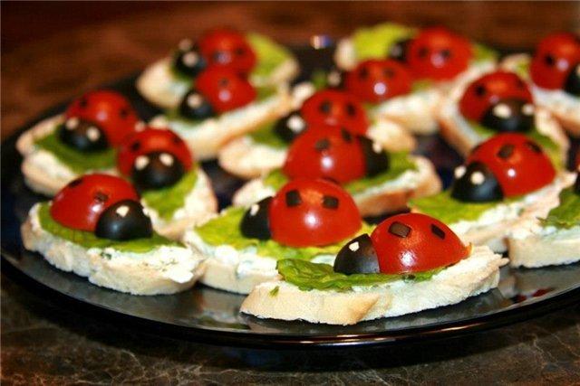 Бутерброды на детский праздничный стол рецепты простые и вкусные 3