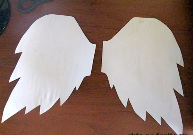 Крылья ангела с картона