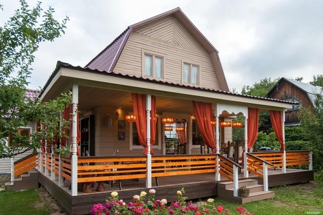 Фото дачных домиков с верандой