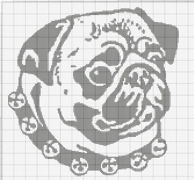 Схема собака монохром