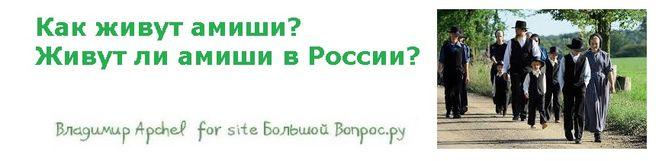 Как живут амиши?  Живут ли амиши в России?
