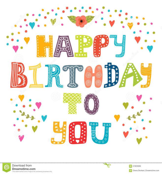 Буквы на английском с днем рождения